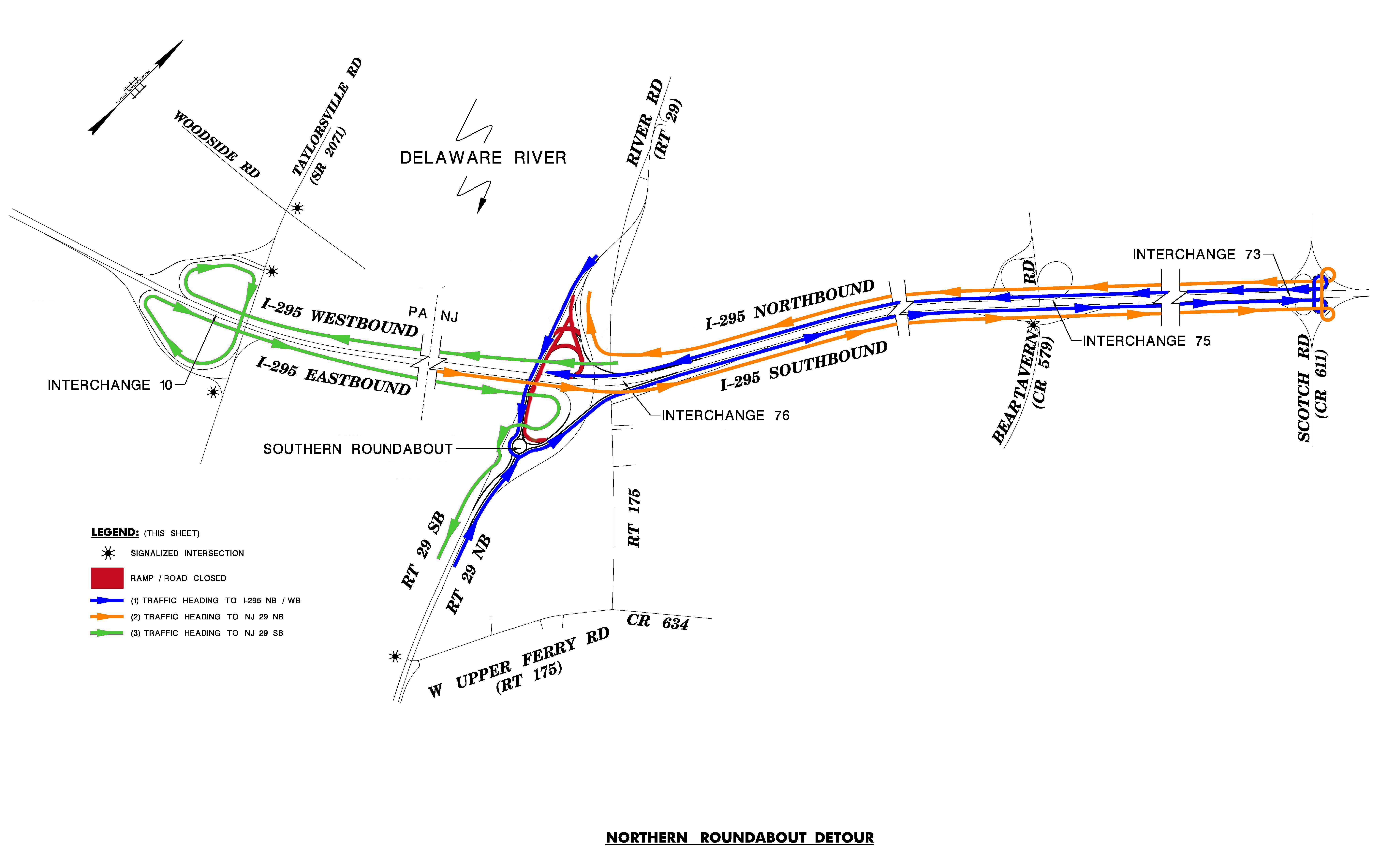 Delaware Traffic Map.Homepage Scudder Falls Bridge Replacement Project
